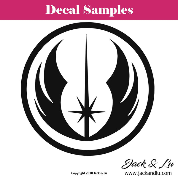 Jedi Order Logo Crest - Star Wars - Vinyl Adhesive Decal - Jack and Lu