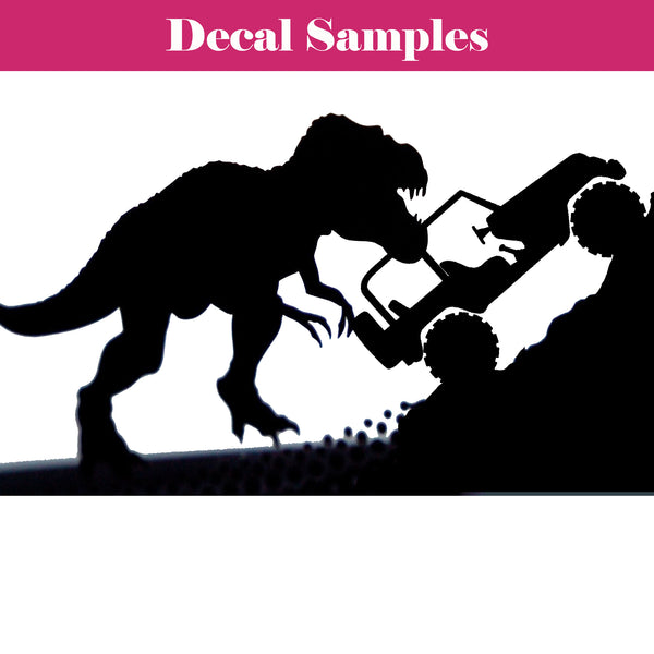 Jeep T-Rex Decal - Jack and Lu