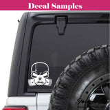 Jeep Pistons Skull Mask Jeep Decal Stickers - Jack and Lu