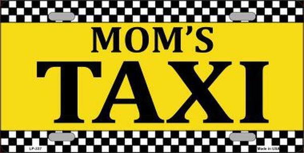 Mom's Taxi Novelty Metal License Plate - Jack and Lu