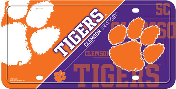 Clemson Tigers Deluxe Novelty Metal License Plate