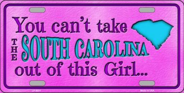 South Carolina Girl Novelty Metal License Plate