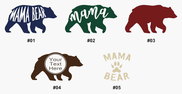 Mama Bear Single Color Monogram Decal