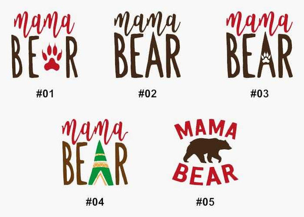 Mama Bear Two Color Decal