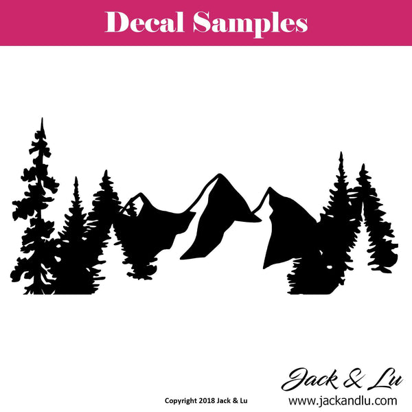 Mountains and Trees Nature Vinyl Die Cut Decal - Jack and Lu