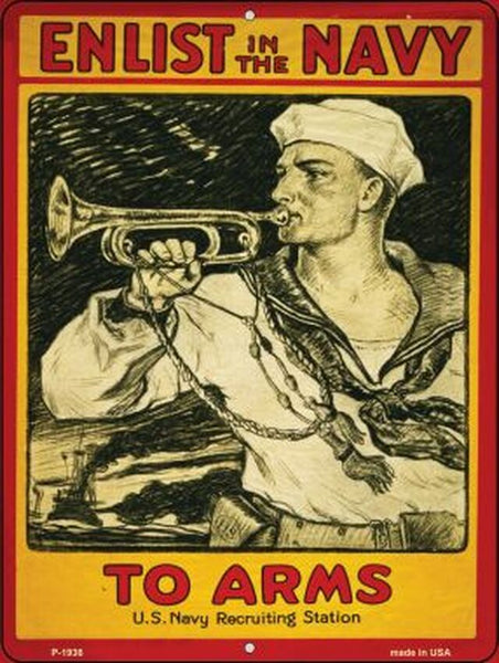 Enlist in the Navy Vintage Poster Wholesale Parking Sign - Jack and Lu