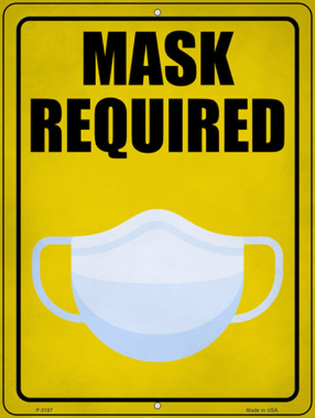 Mask Required Metal Novelty Parking Sign - Jack and Lu