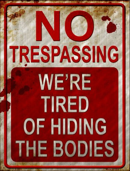 No Trespassing Metal Novelty Parking Sign - Jack and Lu