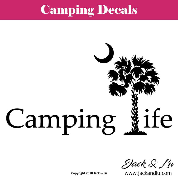 Palmetto Camping Life Decal - Jack and Lu