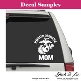 Proud Marine Corps Mom VInyl Adhesive Decal - Jack and Lu