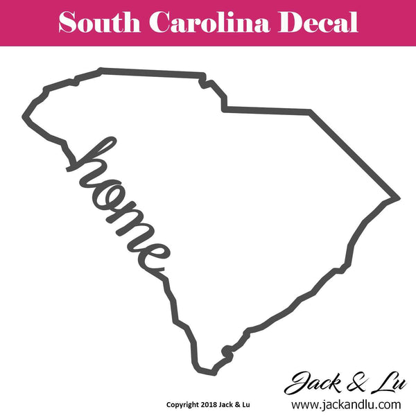 State Decal - (SC) Outline - HOME - Style No. 3 - Jack and Lu