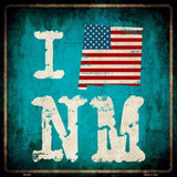 I Love (Your State) Metal Novelty Square Sign - Jack and Lu