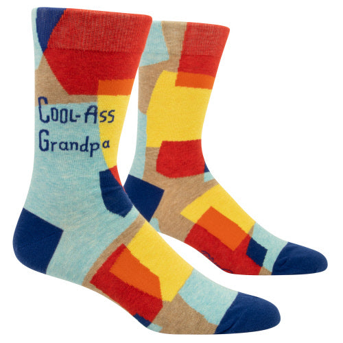 COOL-ASS GRANDPA Men's Crew Socks - Jack and Lu