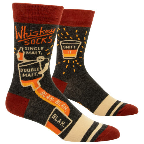 WHISKEY Men's Crew Socks - Jack and Lu