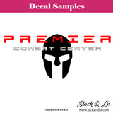 Premier Combat Center Rectangle Vinyl Adhesive Decal - Jack and Lu