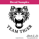 Team Tiger Vinyl Adhesive Decal - Jack and Lu