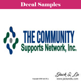 The Community Support Networks Vinyl Adhesive Decal - Jack and Lu