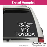 Toyodo | Baby Yoda Toyota Funny Vinyl Adhesive Decal - Jack and Lu