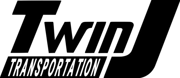 Twin J Transportation Logo Vinyl Adhesive Decal - Jack and Lu