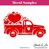 Valentine's Day Decal - Vallentine's Day Truck - Style No. 1 - Jack and Lu
