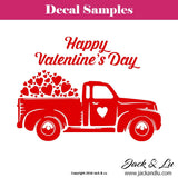 Valentine's Day Decal - Vallentine's Day Truck - Style No. 2 - Jack and Lu