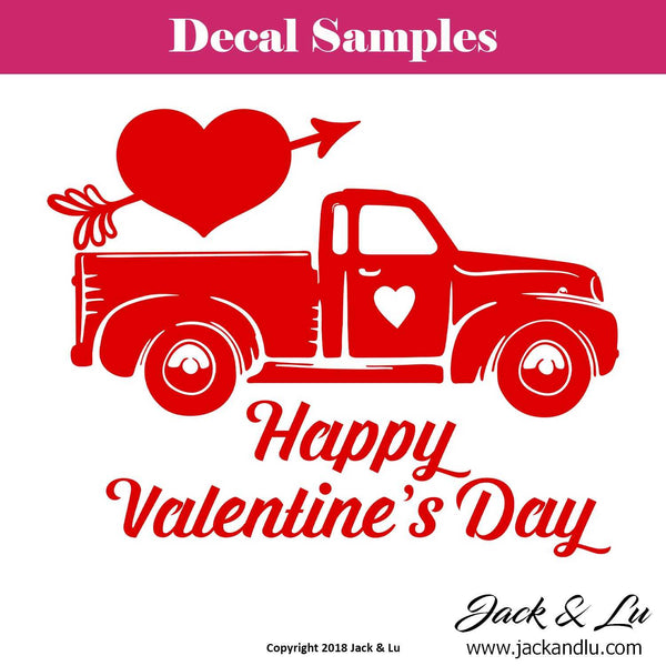 Valentine's Day Decal - Vallentine's Day Truck - Style No. 3 - Jack and Lu