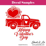 Valentine's Day Decal - Vallentine's Day Truck - Style No. 5 - Jack and Lu