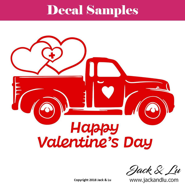 Valentine's Day Decal - Vallentine's Day Truck - Style No. 6 - Jack and Lu