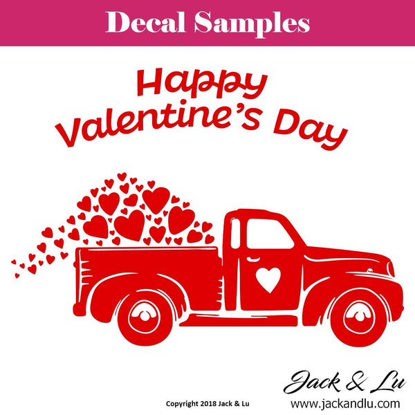 Valentine's Day Decal - Vallentine's Day Truck - Style No. 7 - Jack and Lu