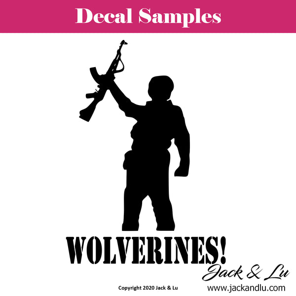 Red Dawn AK-47 - Wolverines! Decal - Jack and Lu