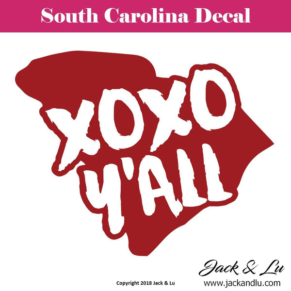 State Decal - South Carolina (SC) - XOXO Y'ALL - Jack and Lu