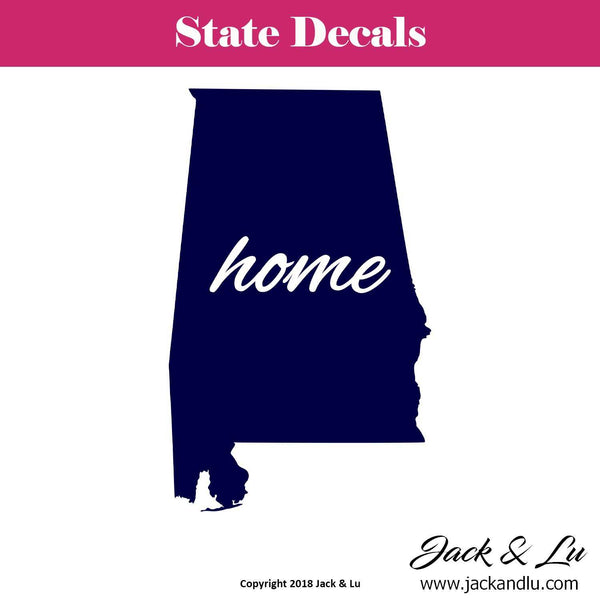State Decal - (AL) Alabama Home State Decal