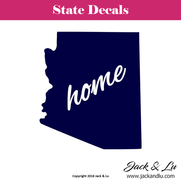 State Decal - (AZ) Arizona Home State Decal - Jack and Lu
