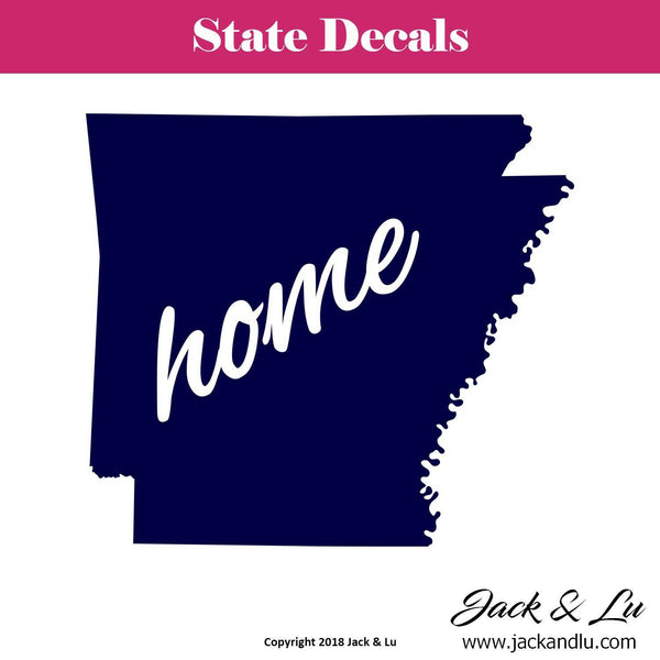 State Decal - (AR) Arkansas Home State Decal - Jack and Lu
