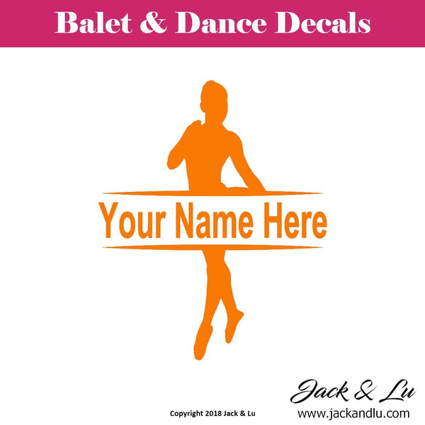 Custom Personalized Ballet and Dance Name Decal - Style No. 9