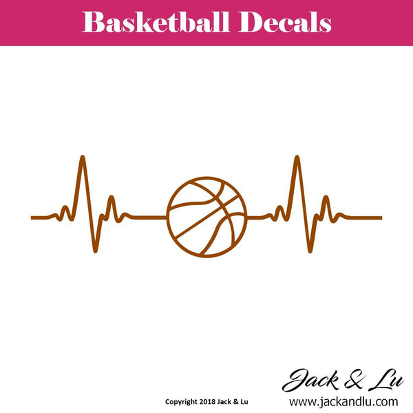 Basketball Heartbeat Decal - Jack and Lu