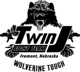 Twin J Fight Team Wolverine Tough Vinyl Adhesive Decal - Jack and Lu