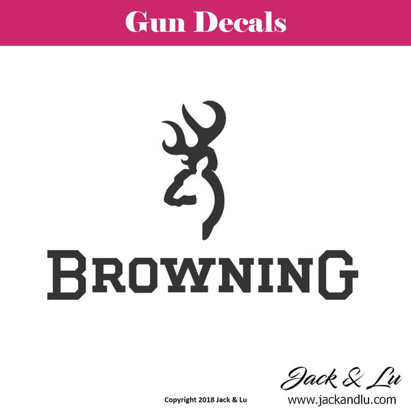 Gun Decal - Browning - Jack and Lu