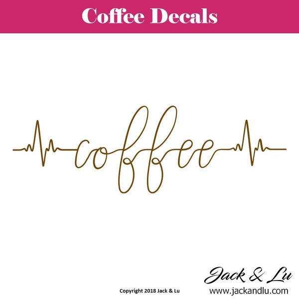 Coffee Heartbeat Decal - Jack and Lu