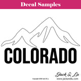 Colorado State with Mountains - Vinyl Adhesive Decal - Jack and Lu