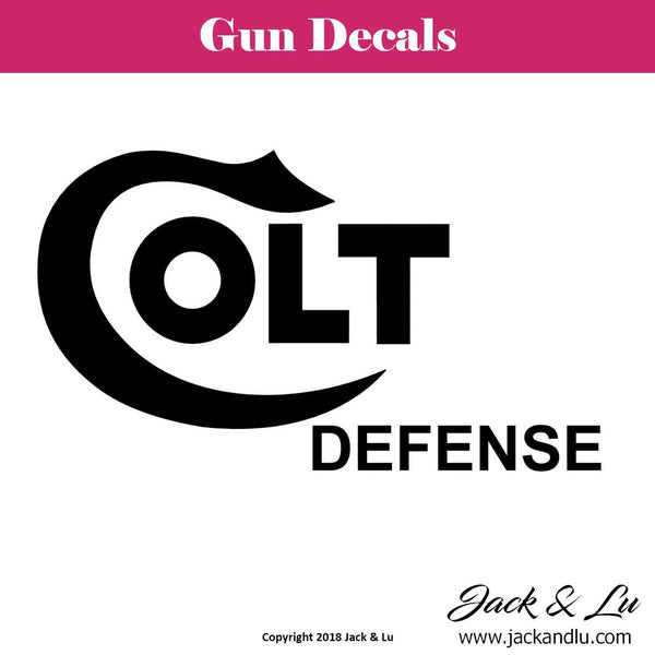 Gun Decal - Colt - Style No. 2 - Jack and Lu
