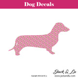 Dachshund Silhouette Dachshund Dog Decal - Jack and Lu