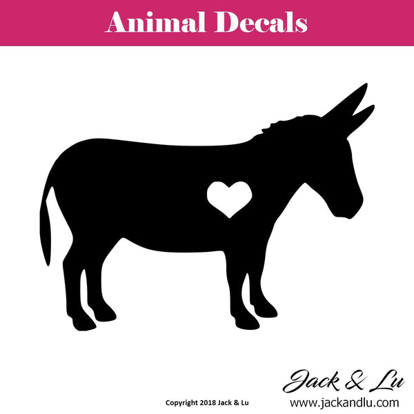 Donkey Heart Silhouette Decal - Jack and Lu