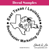 East Texas / Louisiana Beefmaster Marketing Group Decal - Jack and Lu