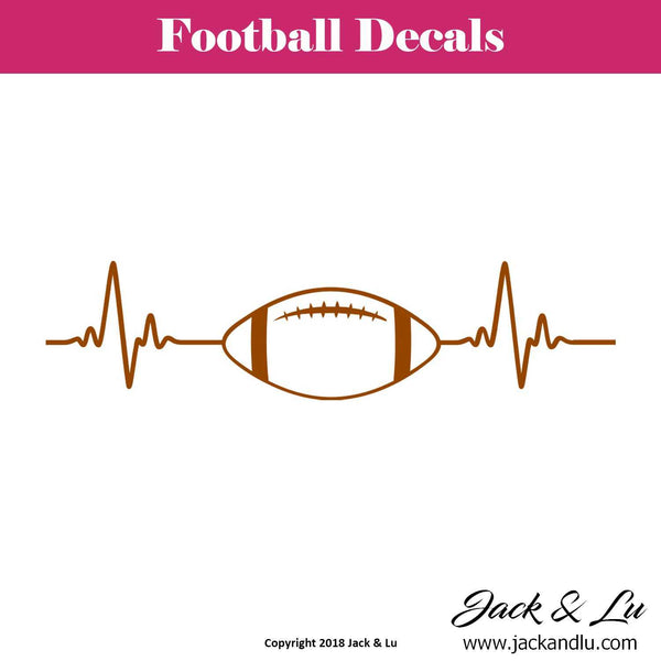 Football Heartbeat Decal - Jack and Lu