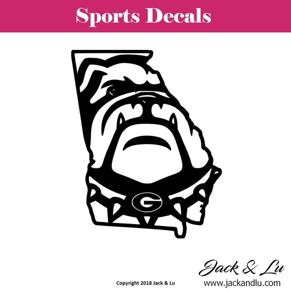 Sports Decal - Georgia Bulldogs Style No. 1 - Jack and Lu