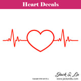 Heart Heartbeat Decal - Jack and Lu