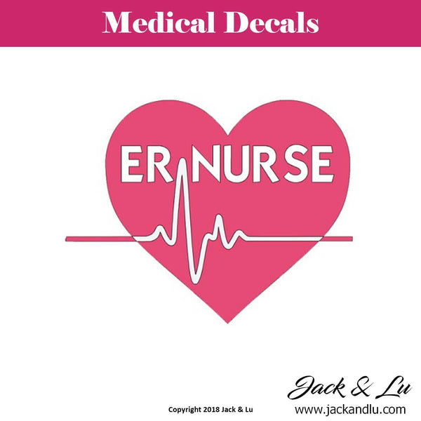 Emergency Room (ER) Nurse with Heartbeat Decal - Jack and Lu