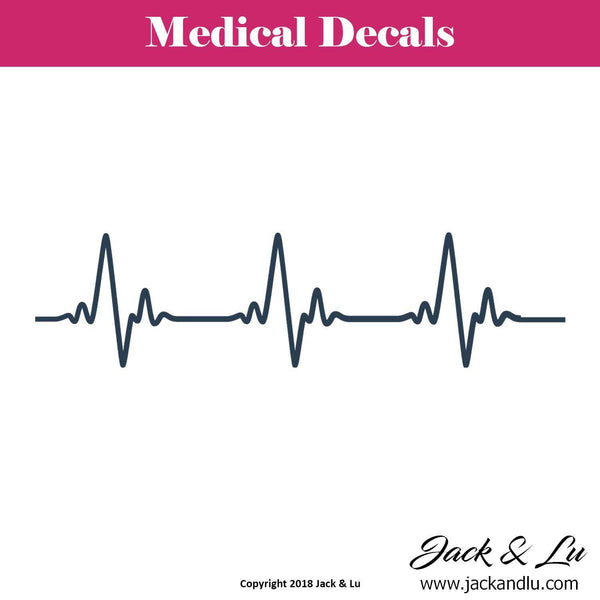 Heartbeat Decal - Jack and Lu