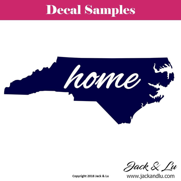 State Decal - North Carolina with Home Script - Jack and Lu